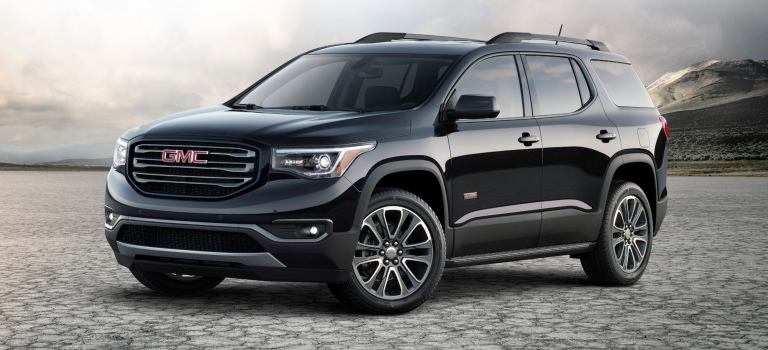 2018 GMC Acadia black side view
