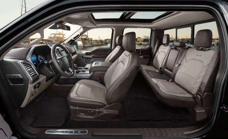 interior seating of the 2018 Ford F-150 Limited
