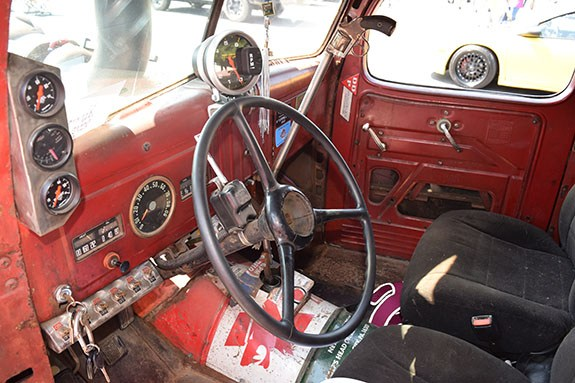 rat rod diesel interior