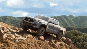 2019 Toyota Tacoma TRD Off-Road parked on rocks